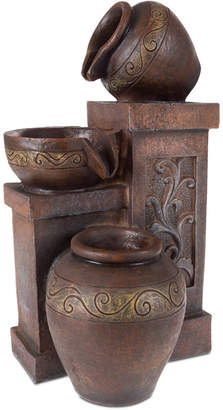 Pure Garden Tiered Vase Led Table Fountain