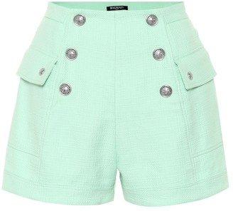 Balmain High-rise cotton shorts