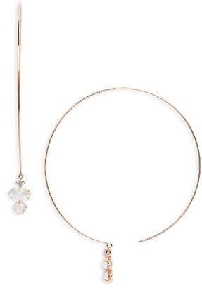 Women's Nadri Fizzy Threader Hoop Earrings $60 thestylecure.com