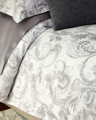 Sferra King Gray Scroll Duvet Cover