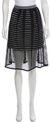 Marc Cain Knee-Length Striped Skirt