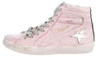 Golden Goose Girls' Leather High-Top Sneakers