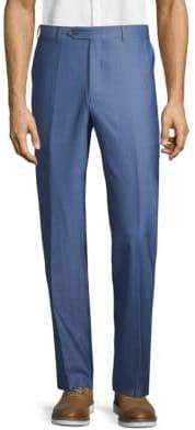Canali Unfinished Hem Wool Pants