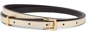 Sandro Cara Metallic Leather Belt