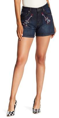 Love Moschino Guitar Embroidered Shorts