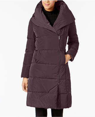 Cole Haan Asymmetrical Pillow-Collar Puffer Coat