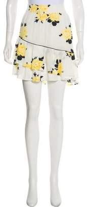 Ganni Floral Print Mini Skirt