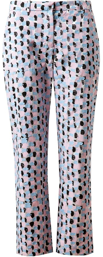 J.W.Anderson 'Paint Brush' Printed Silk Cigarette Trousers