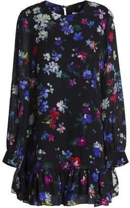 Milly Rachel Floral-Print Silk Mini Dress