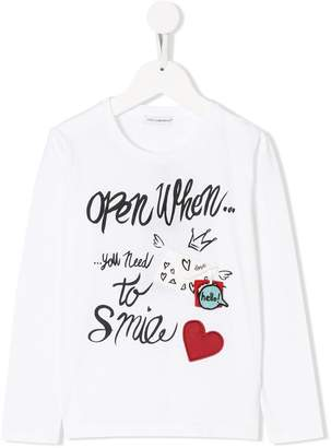 Dolce & Gabbana open when you need to smile T-shirt