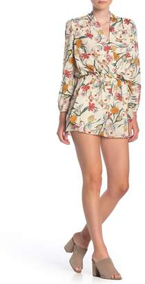 Dress Forum Botanical Floral Print Long Sleeve Romper