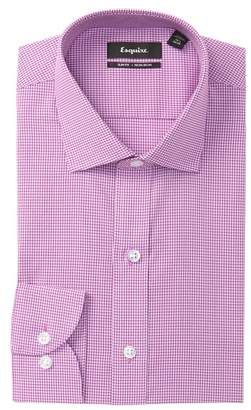 ESQ Gingham Slim Fit Dress Shirt