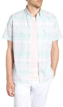 1901 Trim Fit Plaid Short Sleeve Sport Shirt