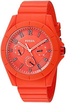 Fossil Men's Quartz Rubber and Silicone Watch
