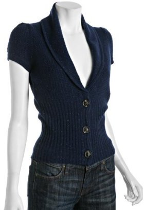 Design History ink wool-cashmere banded cardigan