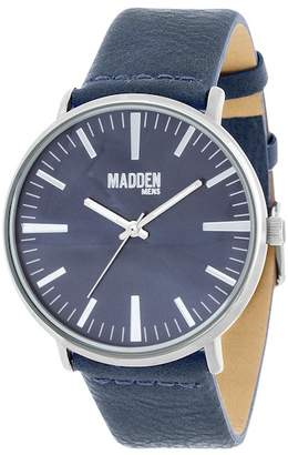 Steve Madden Men's Leather & Alloy 43mm Watch