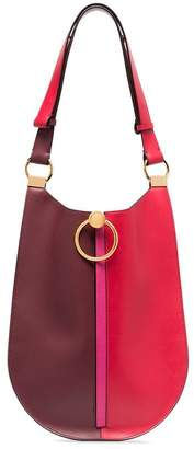 Marni red and burgundy bi-colour leather shoulder bag