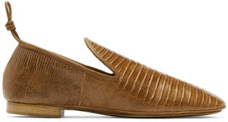 Lemaire Tan Soft Loafers