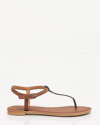 Le Château Leather-Like T-strap Sandal