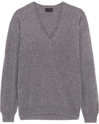 J.Crew - Cashmere Sweater - Gray $285 thestylecure.com