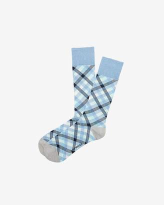 Express Check Print Dress Socks
