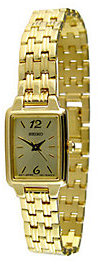 Seiko Ladies Goldtone Bracelet with Square Dial $166.50 thestylecure.com