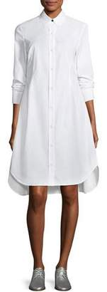 Rag & Bone Albion Button-Front Long-Sleeve Poplin Shirtdress