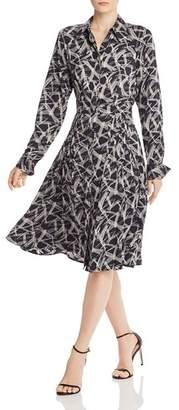 Equipment Julee Printed Silk Button-Down Dress