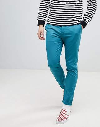 Asos DESIGN Skinny Chinos In Teal