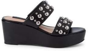 Suzana Studded Wedge Sandals