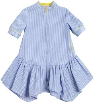 Armani Junior Striped Cotton Oxford Shirt Dress