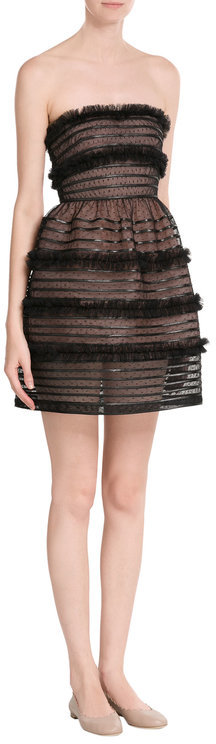 RED Valentino R.E.D. Valentino Bustier Dress with Tulle