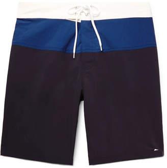 Pilgrim Surf + Supply Ballard Long-Length Colour-Block Swim Shorts