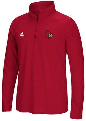 adidas Men's Louisville Cardinals Ultimate Quarter-Zip Pullover