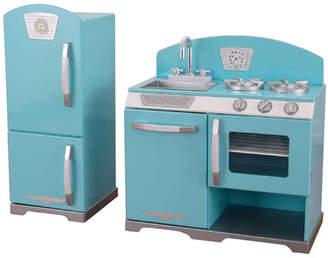 Kid Kraft 2 Piece Retro Kitchen and Refrigerator Set