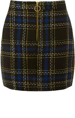 Dorothy Perkins Womens **Woven Check Print Skirt