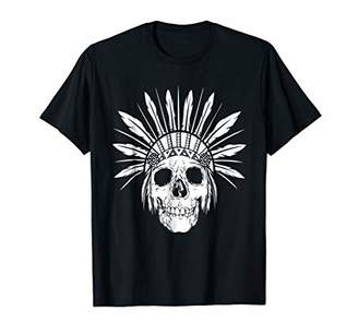 American Indian Chief Skull Gift T-Shirt