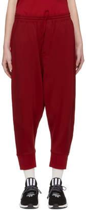 Y-3 Red 3-Stripe Track Pants