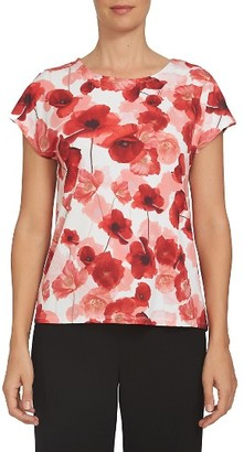 Women's Cece Floating Poppies Tee $59 thestylecure.com