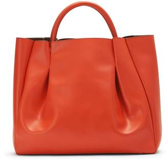 Alexandra de Curtis Maxi Ruched Tote Orange