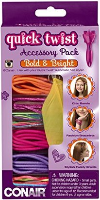 Conair Quick Twist Hair Braider Accessory Kit, Bold and Bright $3 thestylecure.com