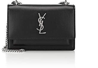 Saint Laurent Women's Monogram Sunset Chain Wallet - Black