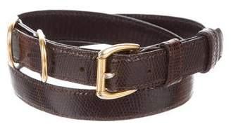 Robert Lee Morris Lizard Buckle Belt
