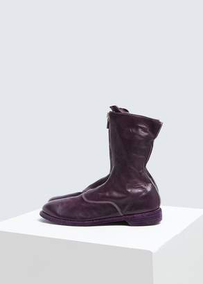 Guidi Front Zip Army Boot