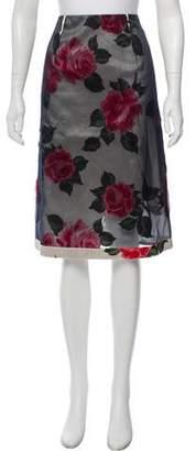 Maison Margiela Floral Knee-Length Skirt w/ Tags