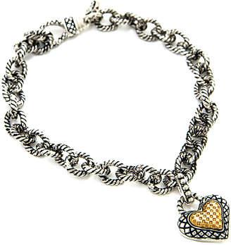 Candela Andrea Divino 18K & Silver Heart Charm Bracelet