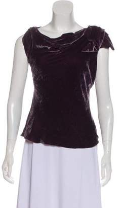 Ralph Lauren Purple Label Sleeveless Velvet Top
