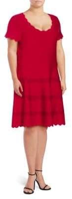 Alexia Admor Plus Scalloped Knit Dress