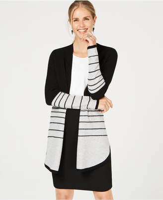 Charter Club Pure Cashmere Textured Stripe Sweater