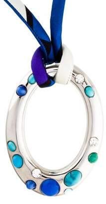 Emilio Pucci Crystal & Resin Oversize Pendant Necklace